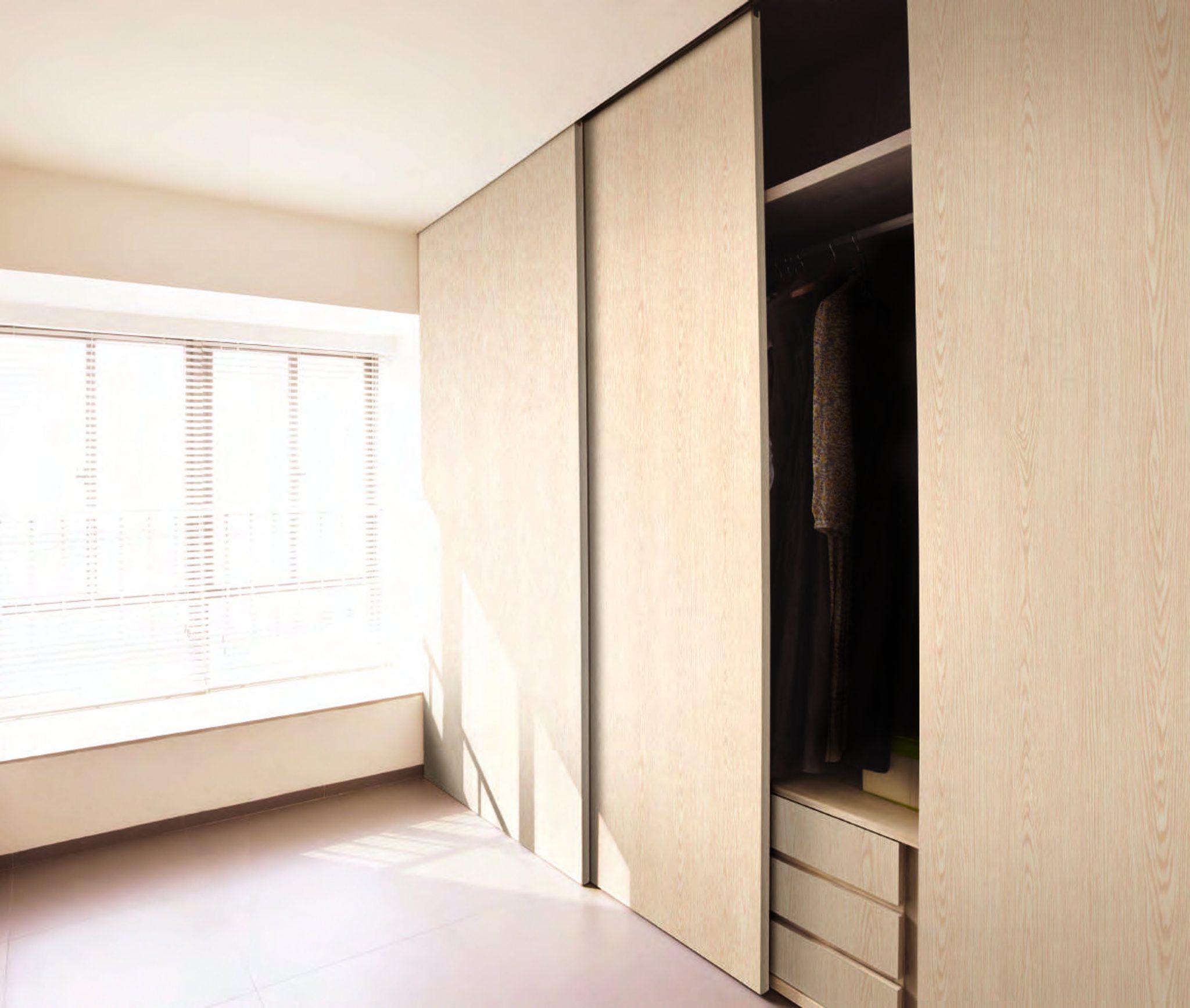 Sliding wardrobe doors and units