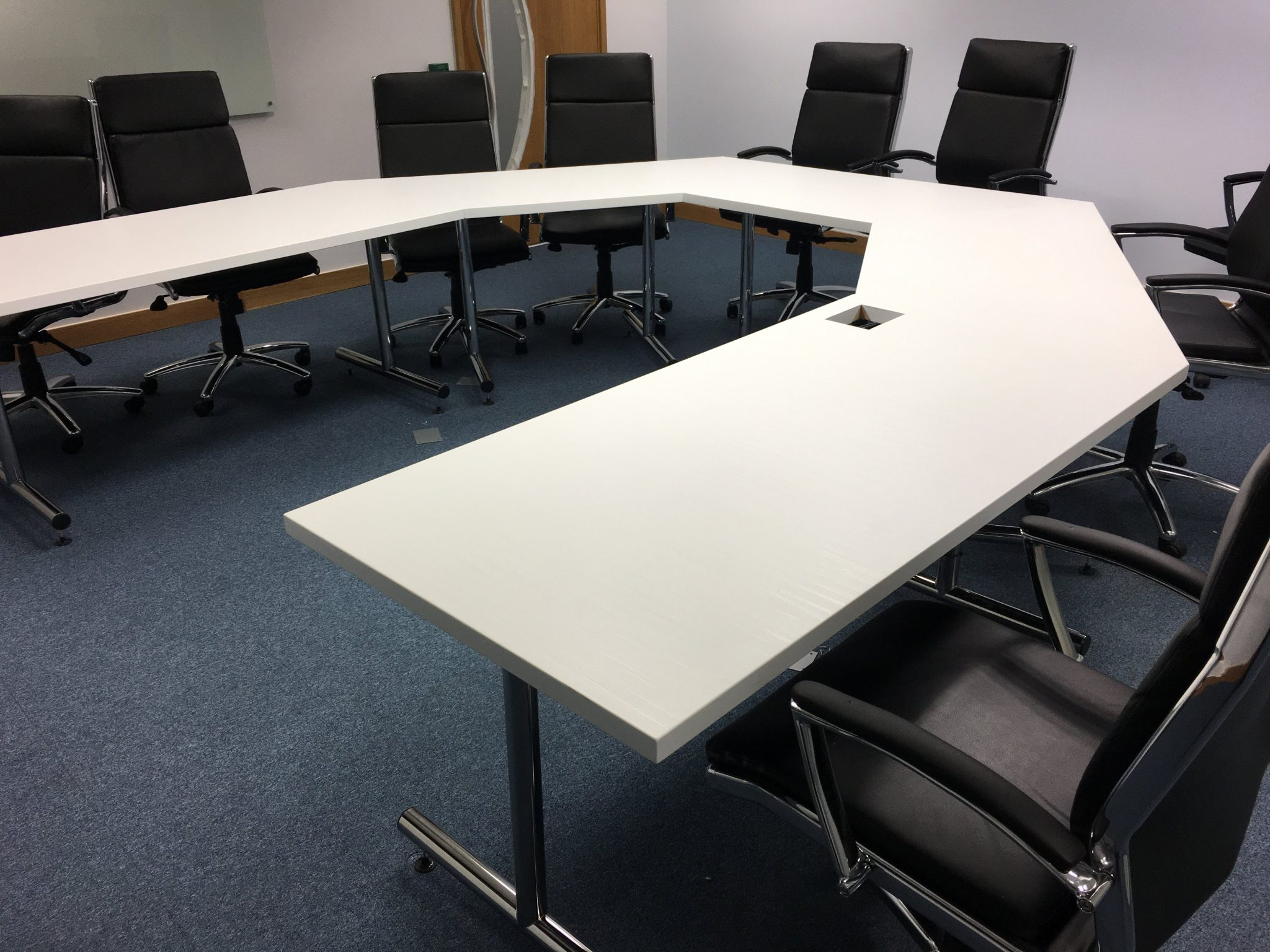 Meeting room table wrapped