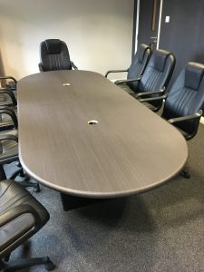 Meeting room table wood vinyl wrapped