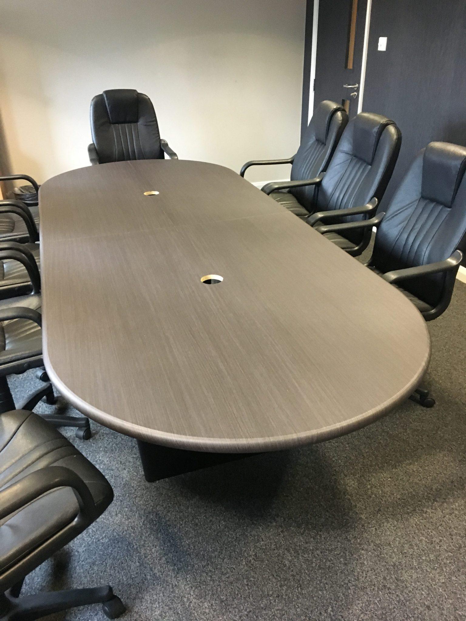 Meeting room table wood vinyl wrapped