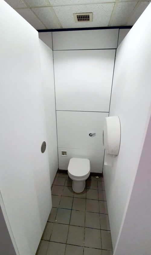 Toilets After White wood vinyl